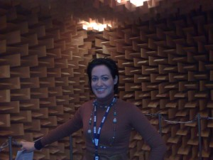 My producer LJ Rich in Anechoic Chamber