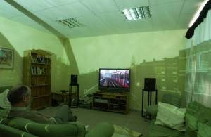"Surround video in one of Kingswood's ""sitting rooms"""